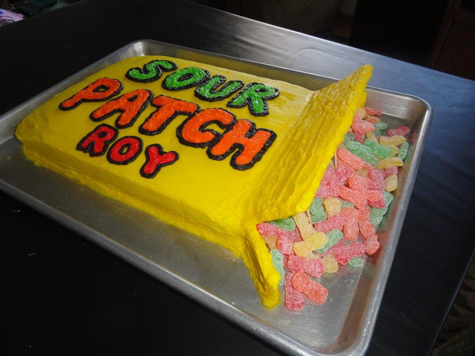 Sour Patch Kids Box Cake