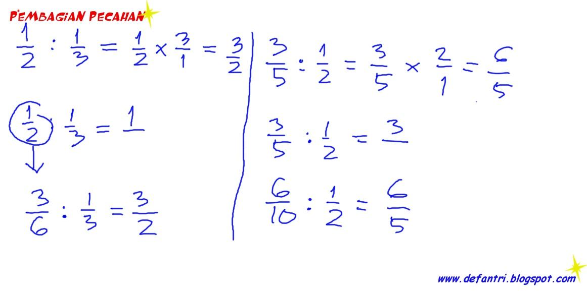 Matematika Alternatif Membagikan Pecahan Tanpa Harus Merubahnya Menjadi Perkalian Pecahan Defantri Com