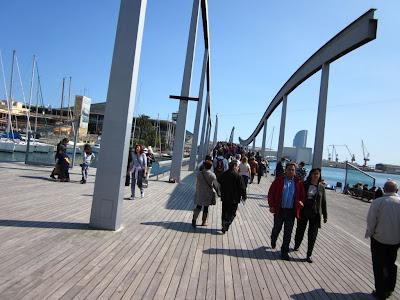 Rambla de Mar in Barcelona