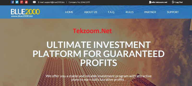 [SCAM] Rebiew Blue2000 - Lãi 1.8% - 2.4% hằng ngày - Hoàn vốn đầu tư - Đầu tư tối thiểu 20$ - Thanh toán Manual
