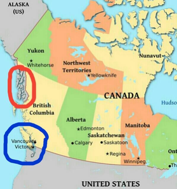 Pega O Mapa Victoria Canadá - Canada mapa
