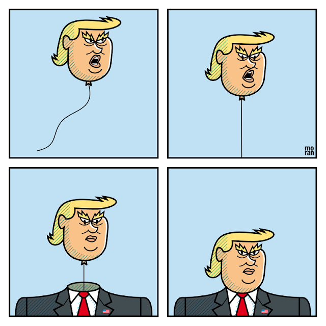 ilustración dibujo comic ilustrador marcos moran illustration drawing Trump
