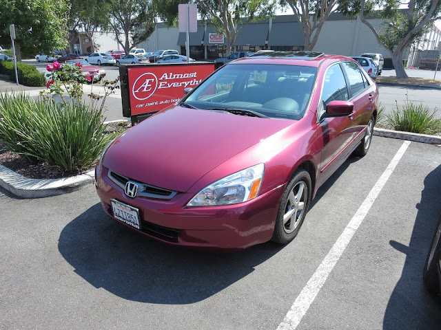 Collision repairs on 2003 Honda Accord at Almost Everything Auto Body