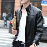 gaya pakain pria - jaket kulit pria