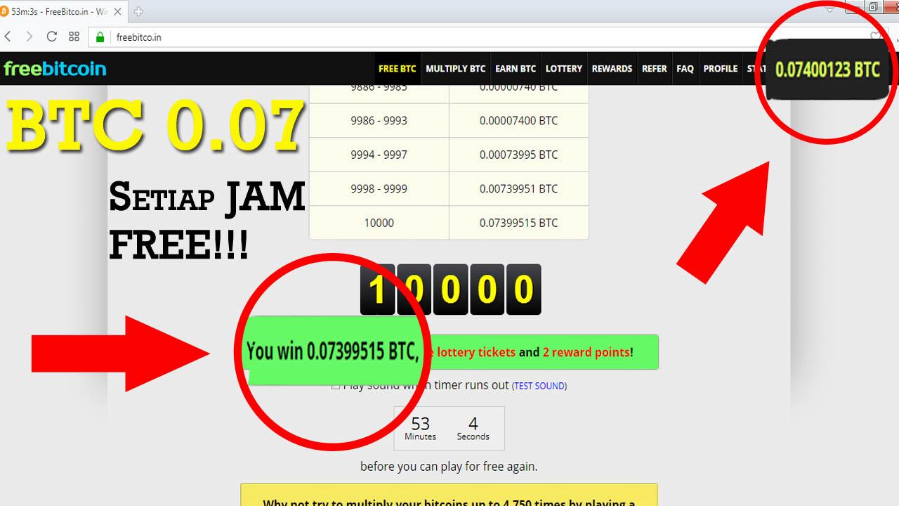1000 Roll Script Freebitco in Terbaru Juli 2017 - 0 07 BTC Per Jam