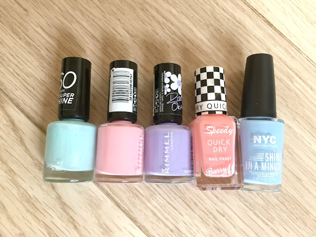 NOTD Pastel Rainbow Nails