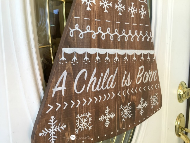 Christmas Tree Door Hanger, MyLove2Create