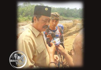 Ketua DPRD Beni Rudiono Meninjau Pembangunan Bendungan Leuwi Nangka, Sungai Ciasem, Dangdeur, Subang