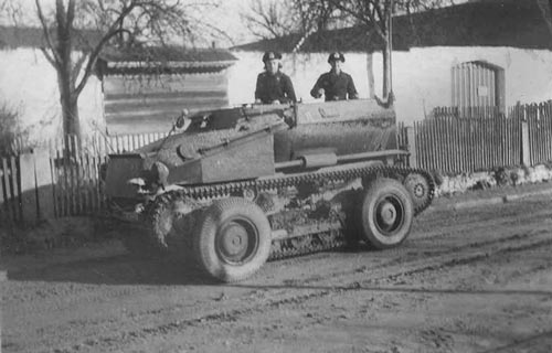 Средний разведывательный колёсно-гусеничный бронеавтомобиль Sd.Kfz. 254 с экипажем на колесном ходу
