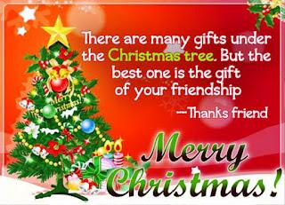 Kartu Ucapan Natal Merry Christmas 80020
