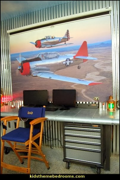 airplane bed  airplane theme bedroom - Aviation themed bedroom ideas - airplane bed - airplane murals - airplane room decor - Airplane rooms - airplane theme beds - airplane decor