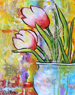 tulip painting, atlanta artists, galleries in atlanta