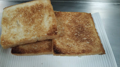 Three toasted Bread slice Food Recipe Dinner ideas