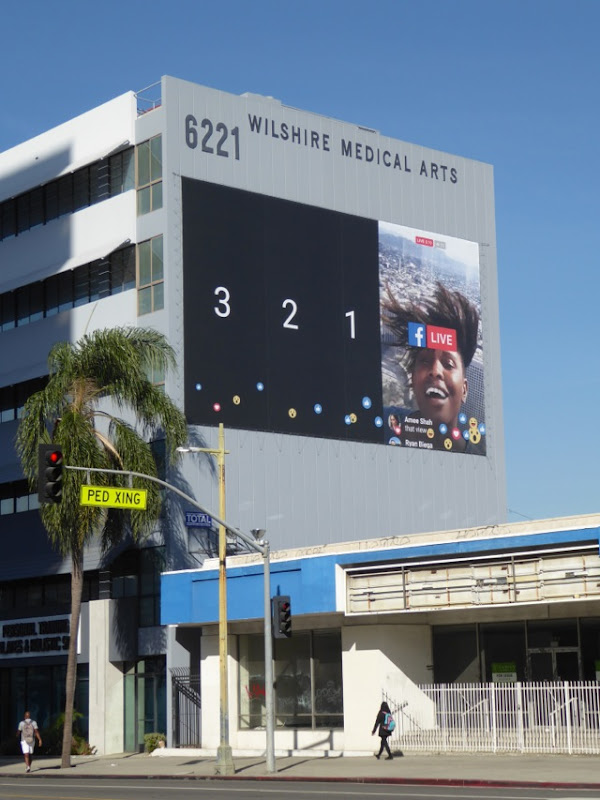 Giant Facebook Live billboard