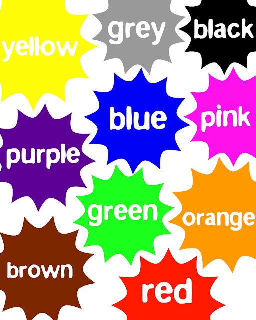 Free Colors Printable