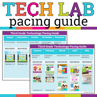 Third Grade Tech Lab Pacing
