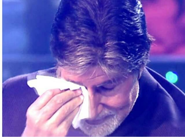 Emotional Amitabh Bachchan