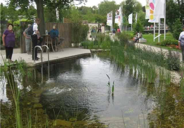 Schwimmteich auf der Landesgartenschau Bamberg