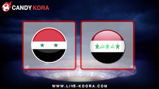 مشاهدة مباراة سوريا والعراق بث مباشر 27-3-2018 مباراة ودية
