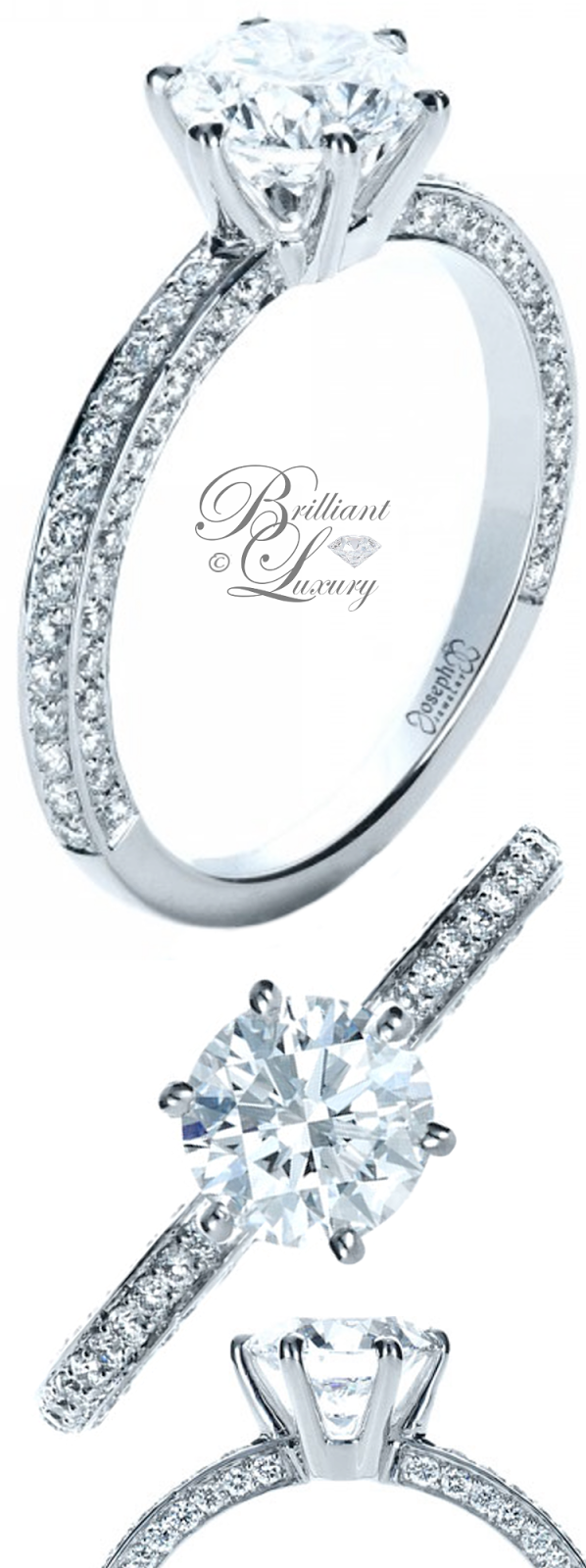 Brilliant Luxury ♦ Joseph Jewelry Six Prong Diamond Engagement Ring