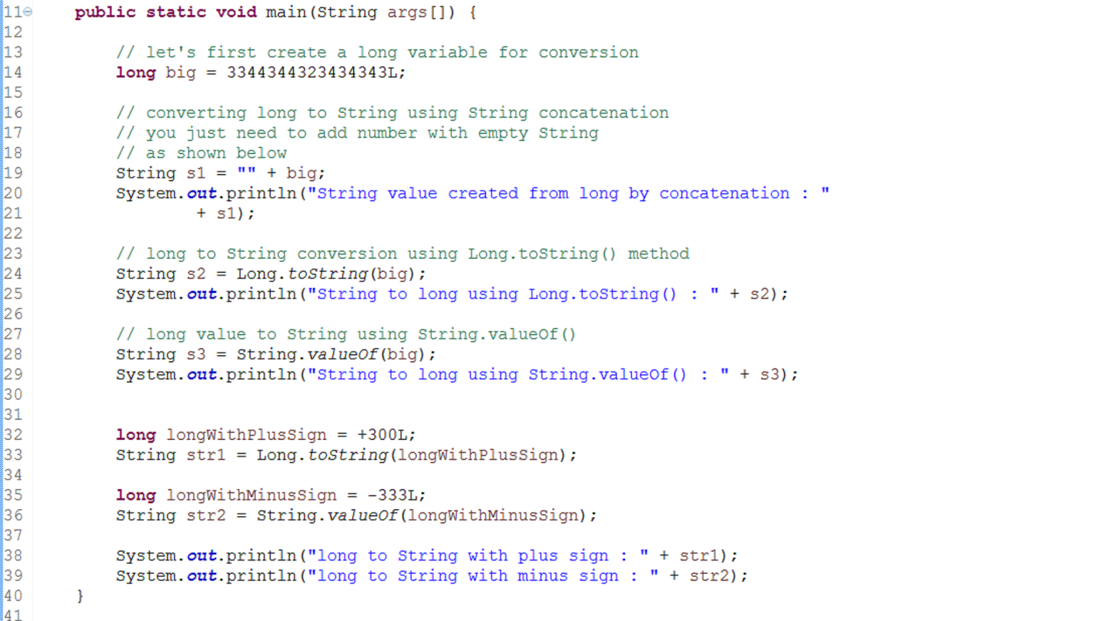 How to convert long to String in Java? Example | Java67