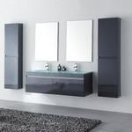ensemble salle de bain gris sobre et sophistiqué