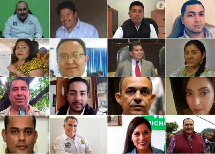 Exfuncionarios y vinculados al crimen organizado, entre candidatos ejecutados.
