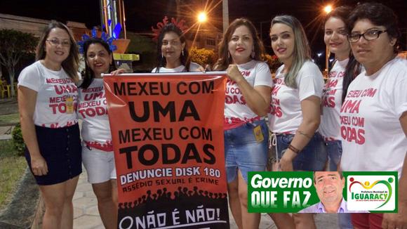 Diretoria da mulher de Iguaracy dá inicio a campanha: Mexeu com uma, mexeu com todas! Não é não!