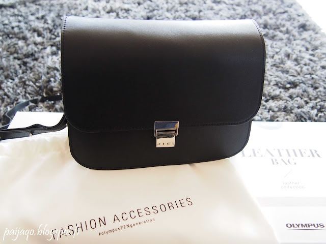 black like my dress olympus leather bag