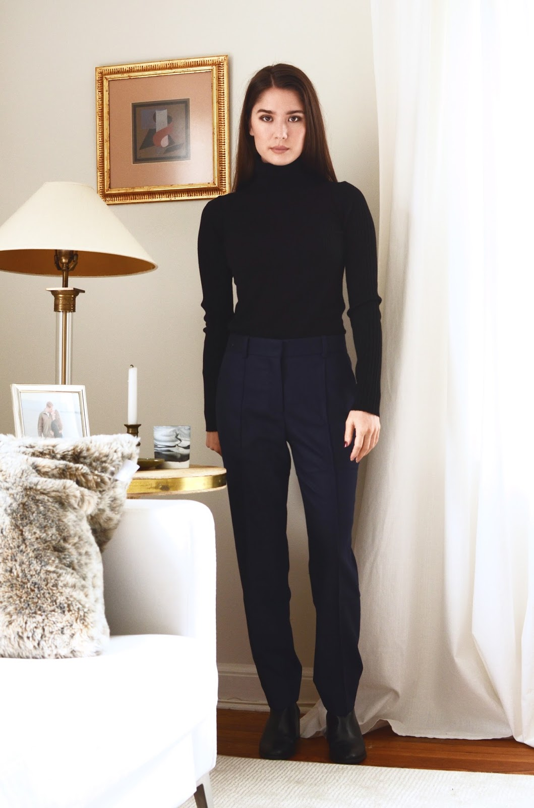 Everlane Premium Wool Flannel Crop & Full Leg Pants Review Photos