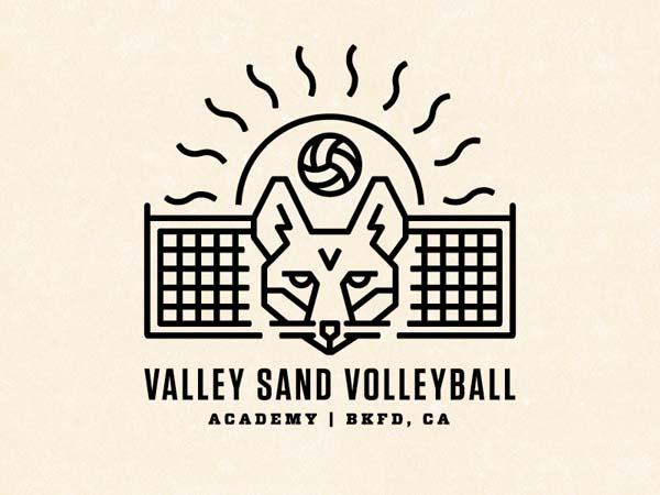 Inspirasi Desain Logo Monoline 2017 - Sand Fox Monoline Logo