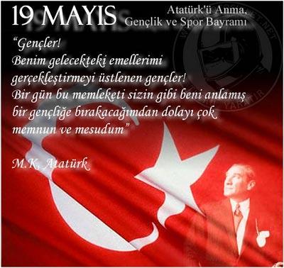 19 Mayıs 1919 Kurtuluş Şavaşının Başlangıcıdır