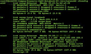 Menampilkan IP Address Menggunakan ifconfig