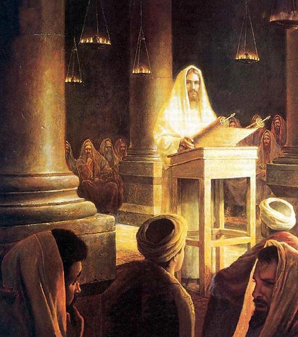 Jesus ensinando a palavra no templo