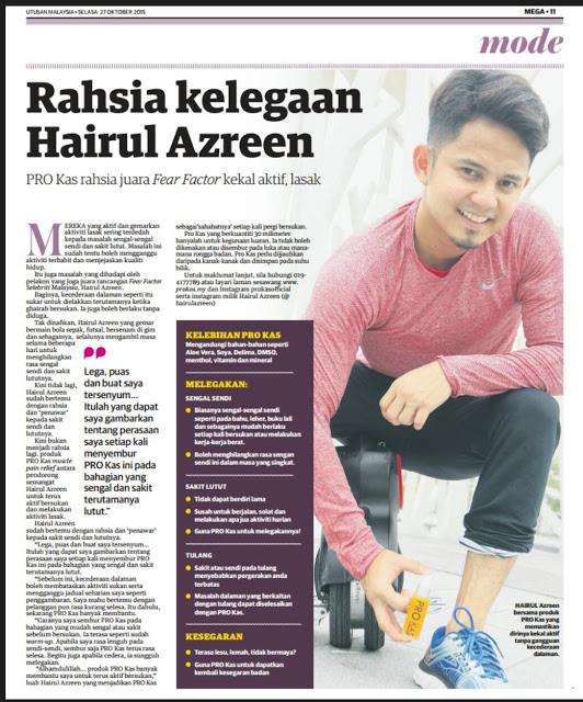 Testimoni Pro Kas Juara Fear Factor Malaysia