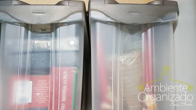 Caixas de plástico para a decoração de Natal
