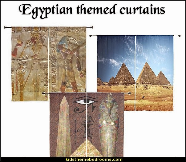 Egyptian Themed Curtains  Egyptian theme bedroom decorating ideas - Egyptian decor - Egyptian furniture - Egyptian Themed Home Decor - pyramid wall murals - Egyptian wall decals - Egyptian themed bedding - Egyptian throw pillows -  egyptian themed bedding set - ancient egyptian themed bedding - Egyptian Home decor ideas - Egyptian costumes - Egyptian themed lighting -  Egyptian Queen costume -  Egyptian Pharaoh Costume - Hieroglyphic posters - Egyptian themed rooms