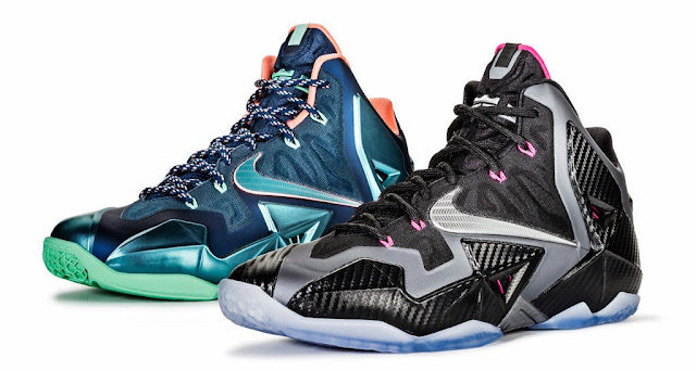 98384e1052b Nike and LeBron James unveiled a set of new colorways for the LeBron 11 s.  These two are dubbed the