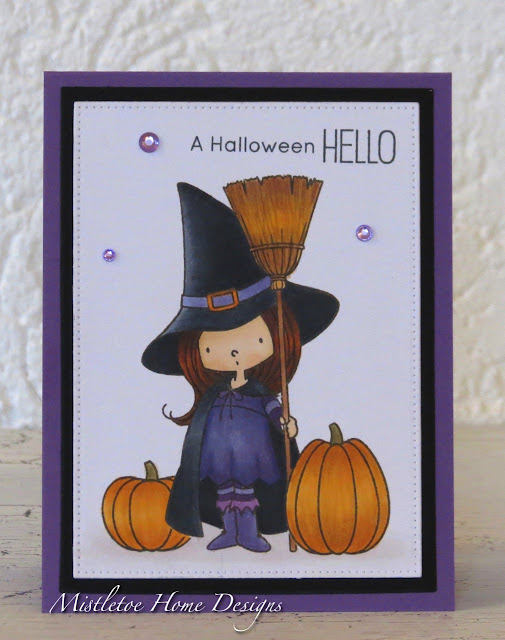 Halloween card with MFT witch