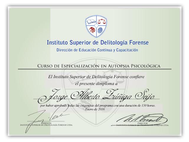 Curso Especializacion Autopsia Psicologica Online