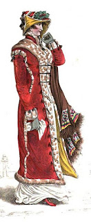 Walking dress   from La Belle Assemblée (Jan 1812)