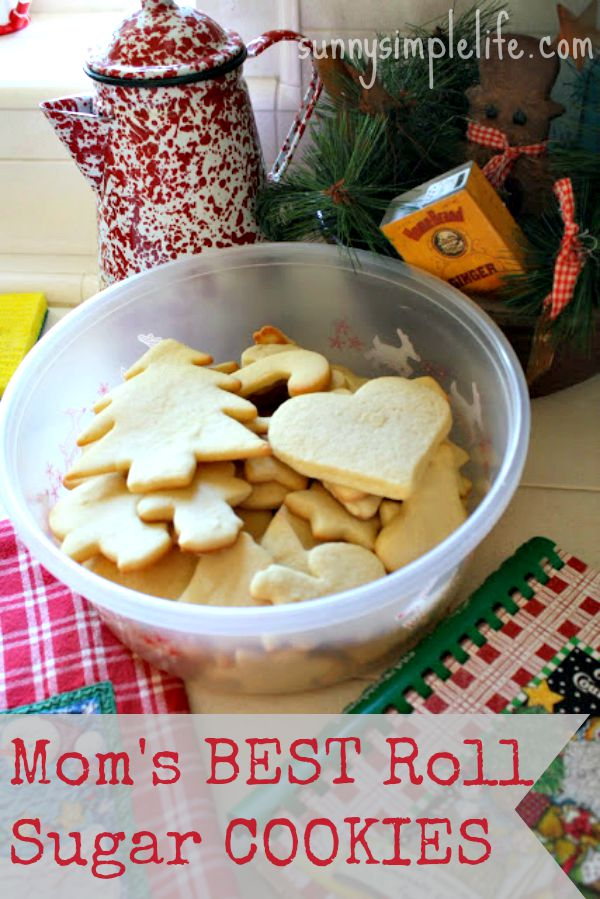 Mom's Best Easy Roll Out Sugar Cookie Recipe