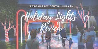 A sparkling review of The Reagan Library's HOLIDAY LIGHTS on The Joyous Living.