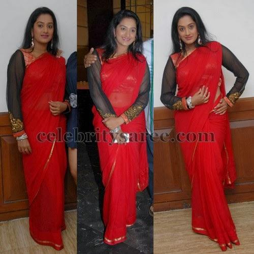e14f7b05a08bca Red Saree Long Sleeves Blouse - Saree Blouse Patterns