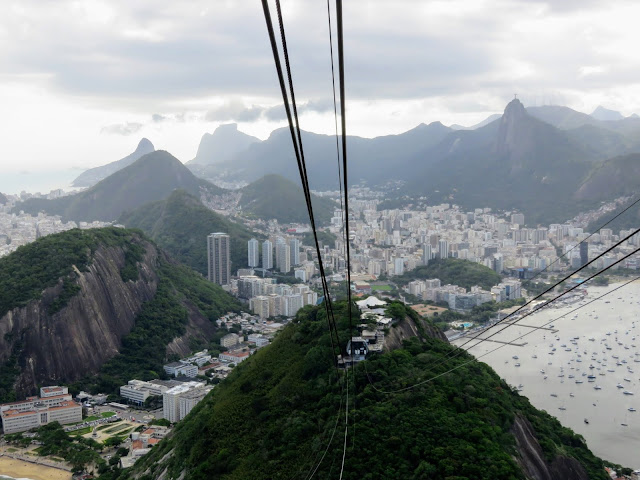 View from the Sugarloaf Mountain Cable Car in Rio de Janeiro Brazil