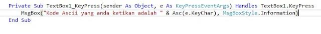 Mencari Kode ASCII