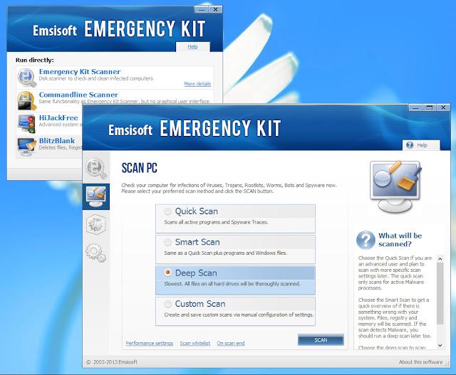 تحميل برنامج حذف البرامج الضارة والبرامج غير المرغوب فيها علي الكمبيوتر Emsisoft Emergency Kit