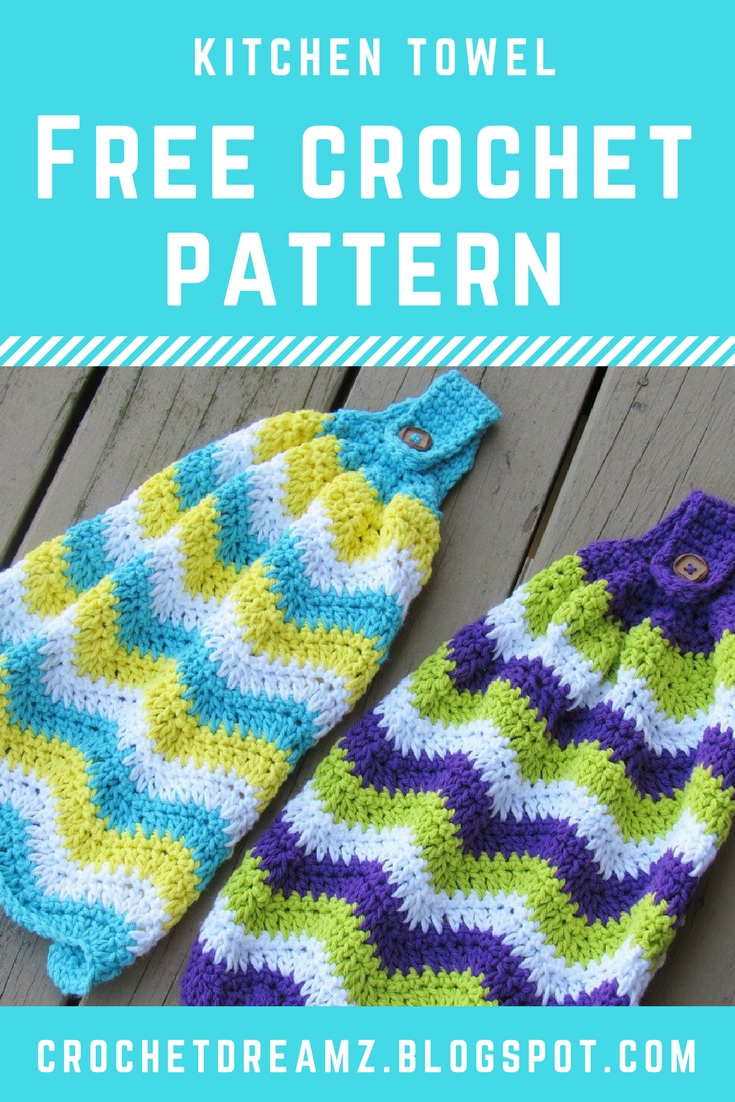 Chevron Kitchen Towel, Free Crochet Pattern - Crochet Dreamz