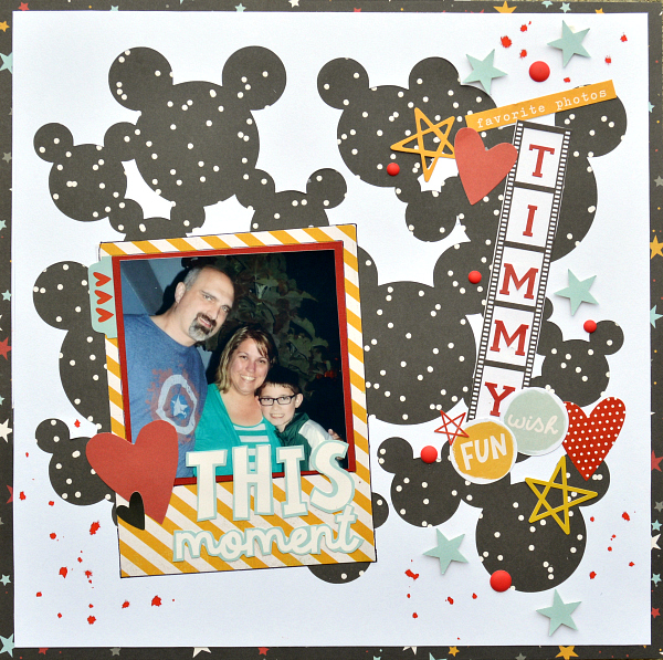 Disney Scrapbook Layout by Christine Meyer