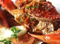 tampilan hidangan kepiting cantik simpel